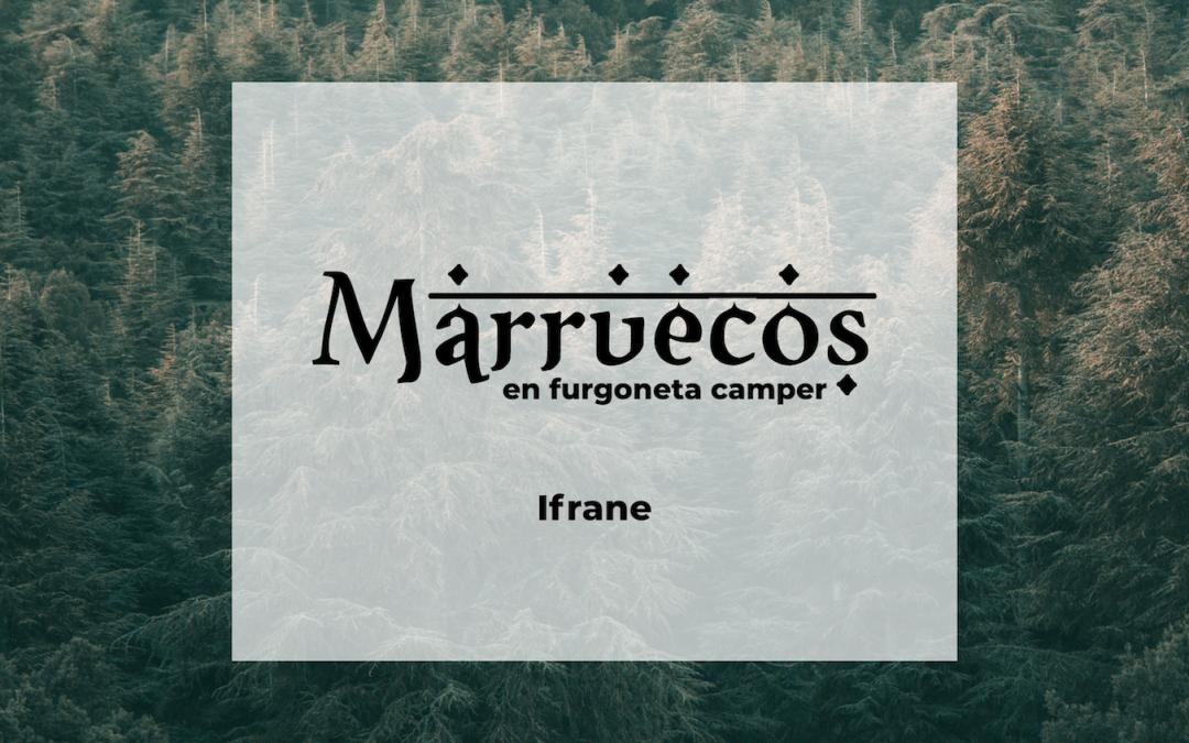 Marruecos en furgoneta camper: Ifrane